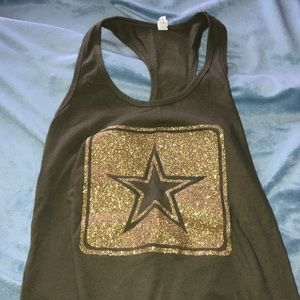 Awesome racerback Army symbol tank top